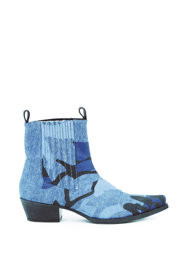 Diesel - SOCHELSEABOOT, Blau Meliert - Stiefel - Image 4