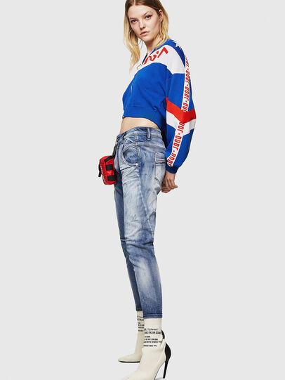 Diesel - Fayza JoggJeans 0870N, Mittelblau - Jeans - Image 4