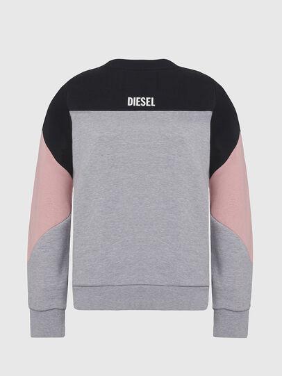 Diesel - UFLT-PHYLOSH, Grau/Schwarz - Sweatshirts - Image 2