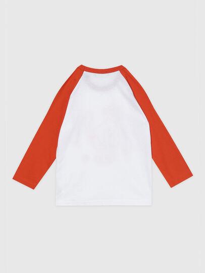 Diesel - TBALYB-R, Weiss/Orange - T-Shirts und Tops - Image 2