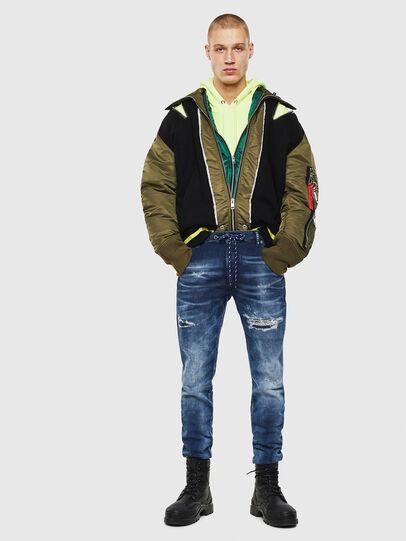 Diesel - Krooley JoggJeans 0097N, Dunkelblau - Jeans - Image 5