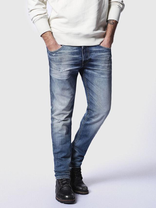 Diesel - Thommer 084DD, Mittelblau - Jeans - Image 1