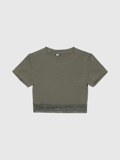 Diesel - UFTEE-GIORGMESH-SV, Armeegrün - T-Shirts - Image 1