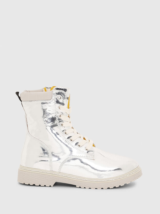 HB LACE UP 04 CH, Silber - Schuhe