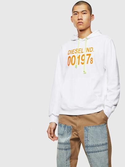 Diesel - S-GIRK-HOOD, Weiß - Sweatshirts - Image 1