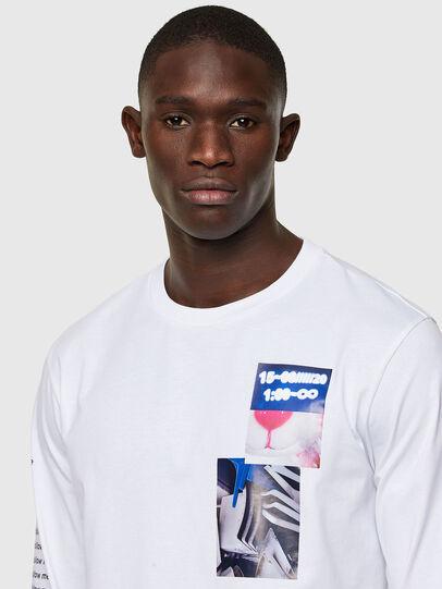 Diesel - T-JUST-LS-A10, Weiß - T-Shirts - Image 3