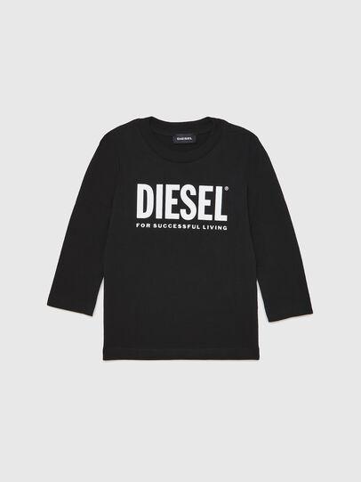 Diesel - TJUSTLOGOB ML-R, Schwarz - T-Shirts und Tops - Image 1