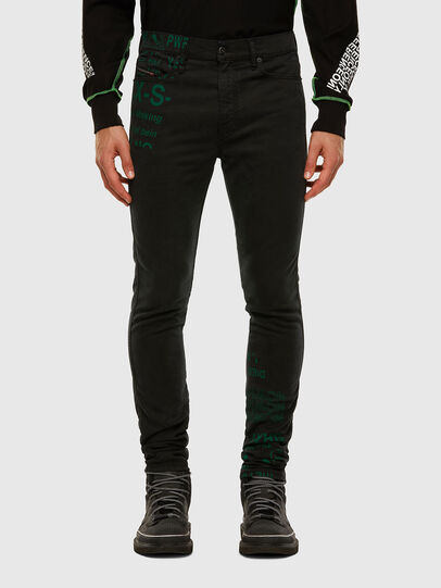 Diesel - D-REEFT JoggJeans® 009HD, Schwarz/Dunkelgrau - Jeans - Image 1