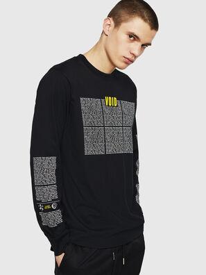 T-JUST-LS-NEW, Schwarz - T-Shirts