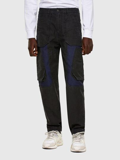 Diesel - D-Eluxerr JoggJeans® 0DDAV, Schwarz/Dunkelgrau - Jeans - Image 1