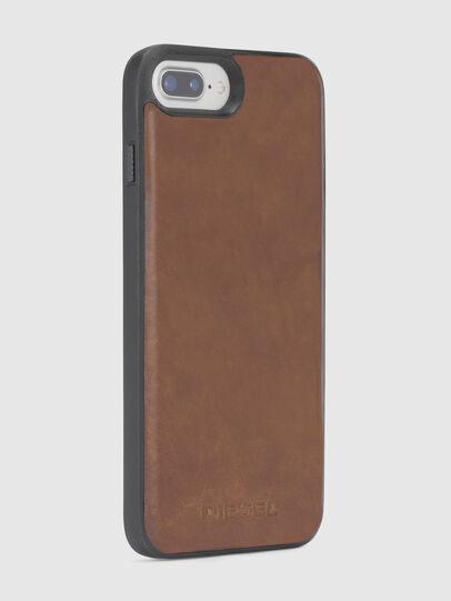 Diesel - BROWN LEATHER IPHONE X CASE, Braun - Schutzhüllen - Image 5