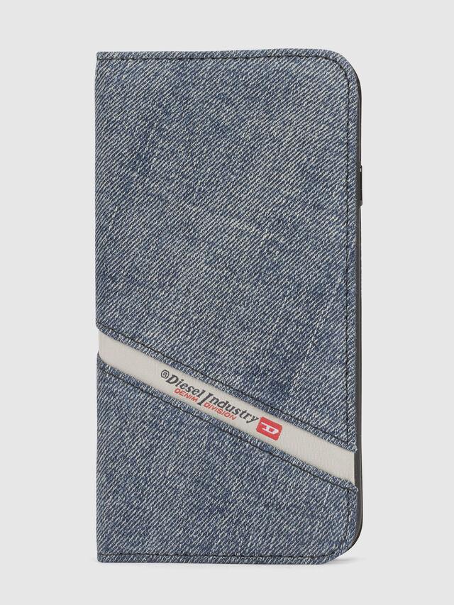 Diesel - DENIM IPHONE X FOLIO, Jeansblau - Klappcover - Image 2