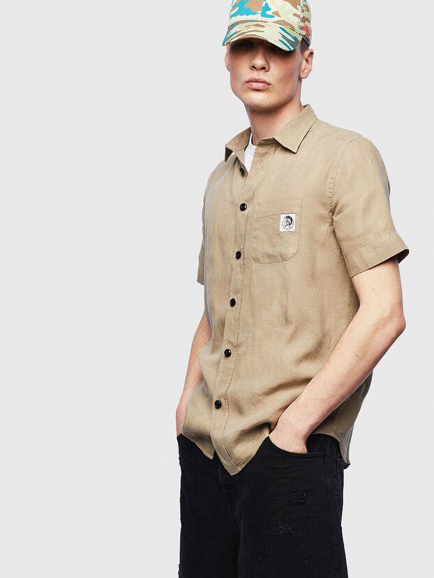 S-KIRUMA-B, Beige - Hemden