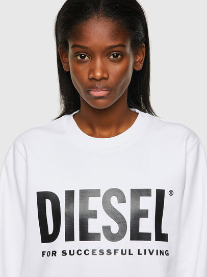 Diesel - F-ANGS-ECOLOGO, Schwarz/Weiss - Sweatshirts - Image 3