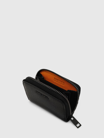 Diesel - JAPAROUND, Schwarz/Orange - Portemonnaies Zip-Around - Image 4