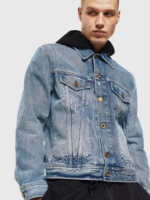 D-BRAY, Hellblau - Denim jacken