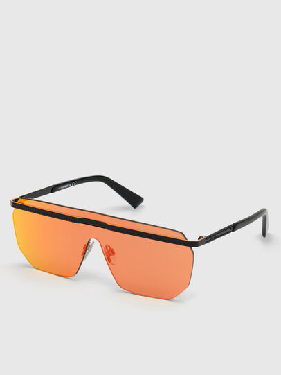 Diesel - DL0259, Orange/Schwarz - Sonnenbrille - Image 4