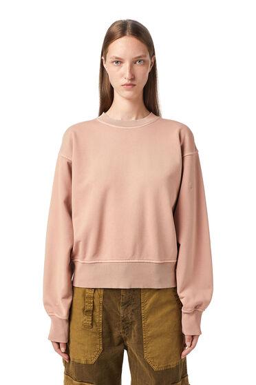 Sweatshirt mit gleichfarbiger Stickerei