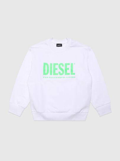 Diesel - SCREWDIVISION-LOGOX, Weiß - Sweatshirts - Image 1