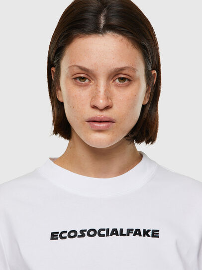 Diesel - T-RECROP, Weiß - T-Shirts - Image 3