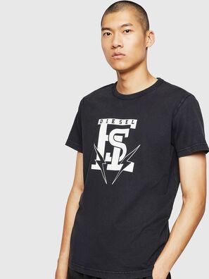 T-DIEGO-B14, Schwarz - T-Shirts