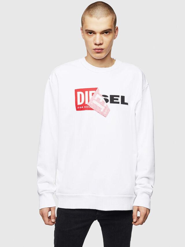 Diesel - S-SAMY, Weiß - Sweatshirts - Image 1