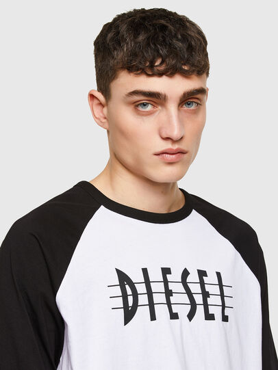 Diesel - T-BEISBOL, Weiß - T-Shirts - Image 3