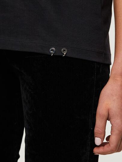 Diesel - T-SILY-R3, Schwarz/Rosa - T-Shirts - Image 4