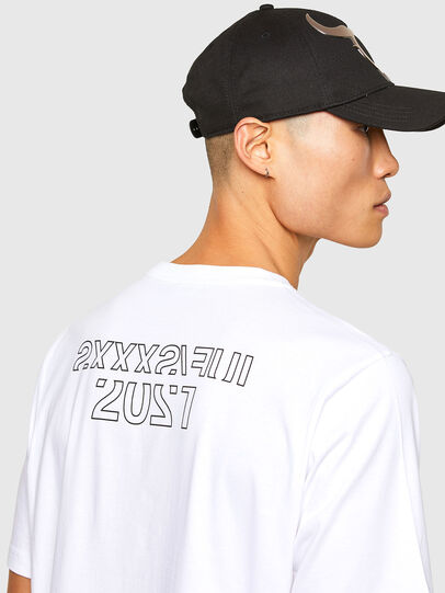 Diesel - CL-T-JUST-O1, Weiß - T-Shirts - Image 5