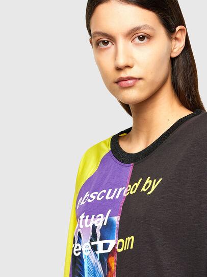 Diesel - T-KIM, Violett/Schwarz - T-Shirts - Image 4