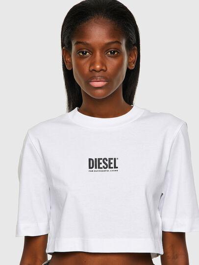 Diesel - T-RECROP-ECOSMALLOGO, Weiß - T-Shirts - Image 3