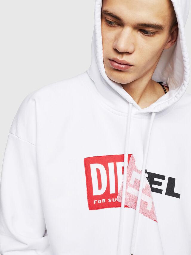 Diesel - S-ALBY, Weiß - Sweatshirts - Image 3
