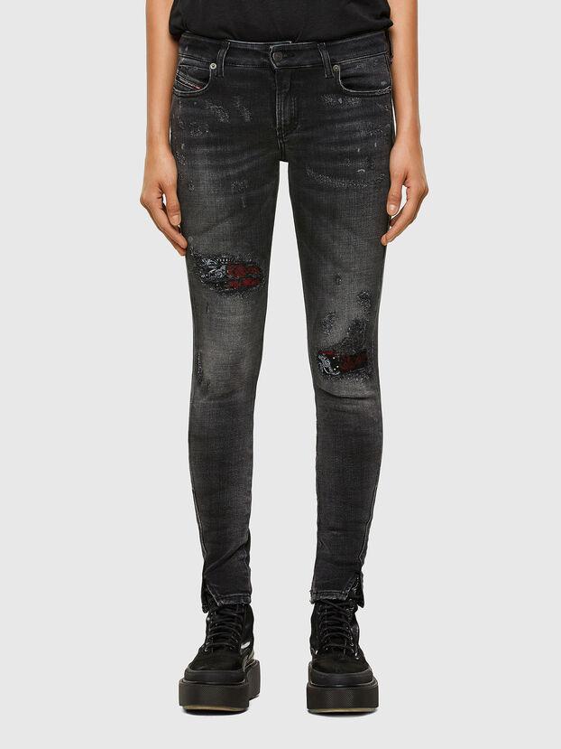 D-Jevel 009JN, Schwarz/Dunkelgrau - Jeans