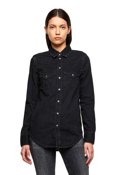Hemd im Western-Style aus Washed Denim