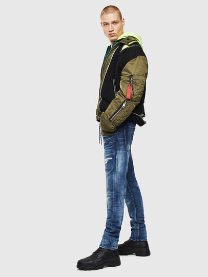 Diesel - Krooley JoggJeans 0097N, Dunkelblau - Jeans - Image 6