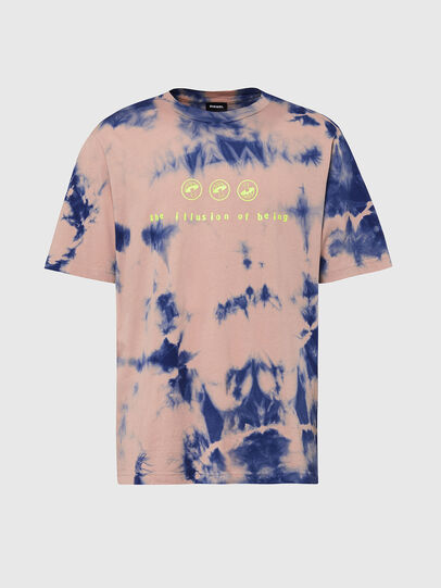Diesel - T-JUST-SLITS-X86, Rosa/Blau - T-Shirts - Image 1