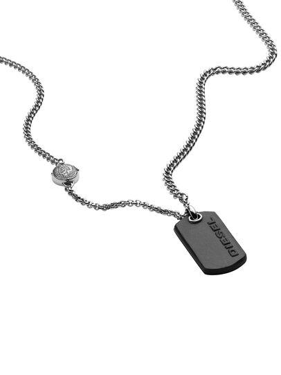 Diesel - NECKLACE DX1012, Silber - Halsketten - Image 2
