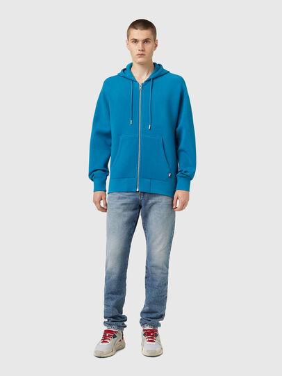 Diesel - S-KRIB-HOOD-ZIP, Blau - Sweatshirts - Image 4