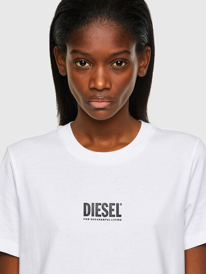 Diesel - T-SILY-ECOSMALLOGO, Weiß - T-Shirts - Image 3