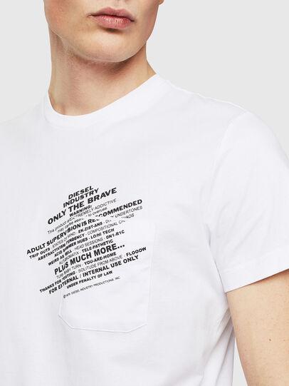 Diesel - T-WORKY-S1, Weiß - T-Shirts - Image 3