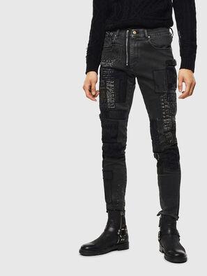 D-Strukt 0093P, Schwarz/Dunkelgrau - Jeans