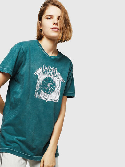 Diesel - T-FLAVIA-IC, Blau - T-Shirts - Image 4