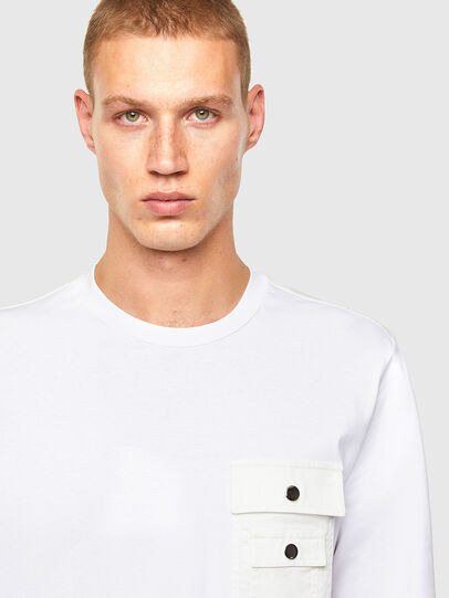 Diesel - T-TASK-LS, Weiß - T-Shirts - Image 3