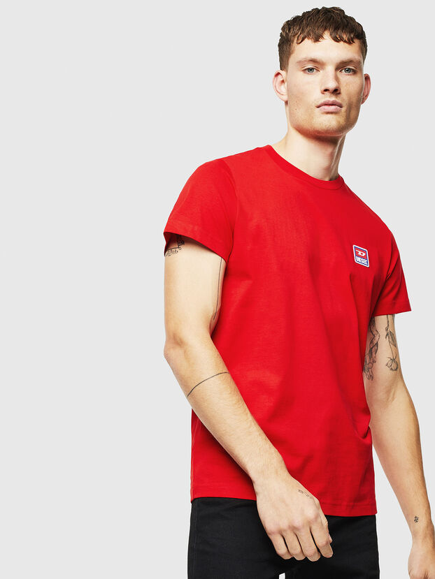 T-DIEGO-DIV, Rot - T-Shirts