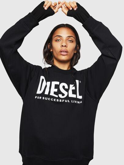 Diesel - F-ANG, Schwarz/Weiss - Sweatshirts - Image 5