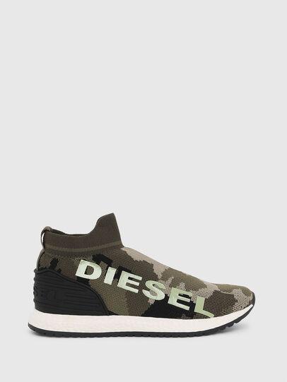 Diesel - SLIP ON 03 LOW SOCK, Camouflagegrün - Schuhe - Image 1