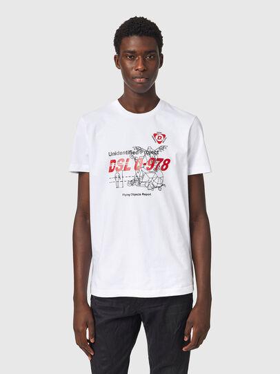 Diesel - T-DIEGOS-B82, Weiß - T-Shirts - Image 1
