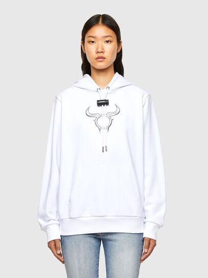 Diesel - CL-S-GIRK-HOOD-O, Weiß - Sweatshirts - Image 2