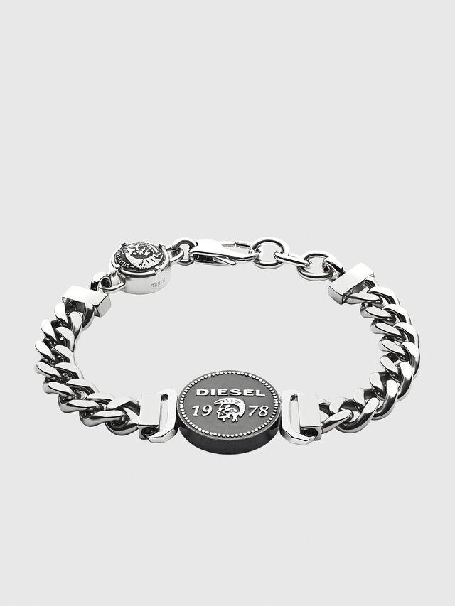 Diesel - BRACELET DX1090, Silber - Armbänder - Image 1