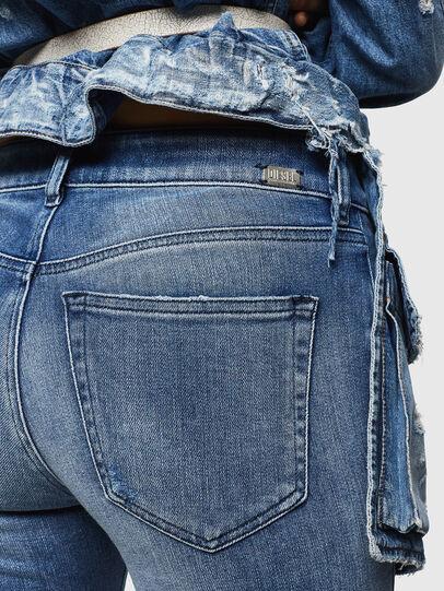 Diesel - Slandy Zip 083AP, Mittelblau - Jeans - Image 3